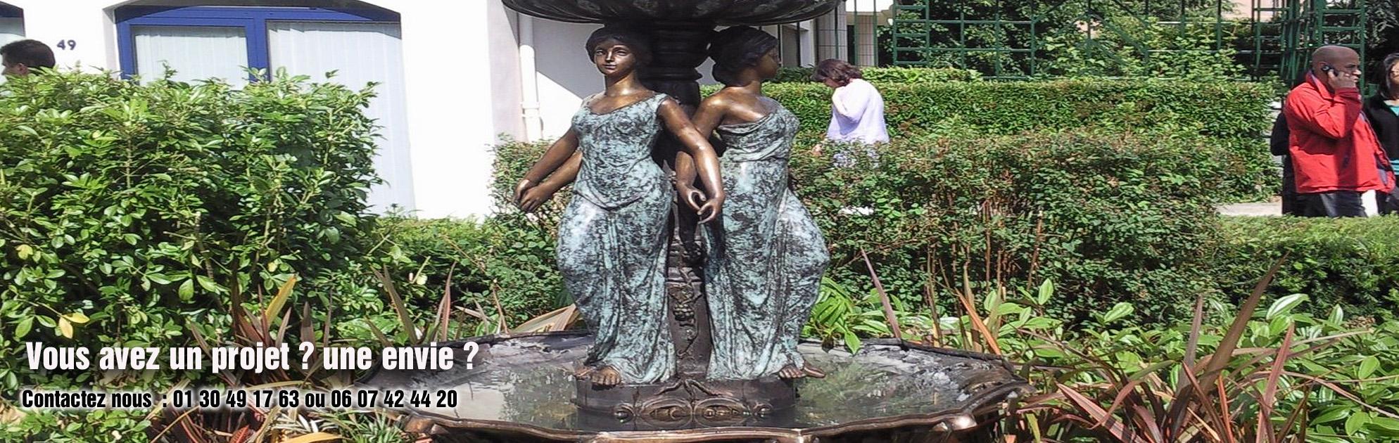 fontaine bronze vasque