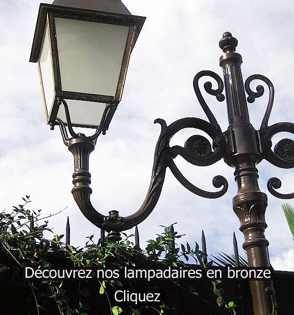 lampadaires de jardin en bronze