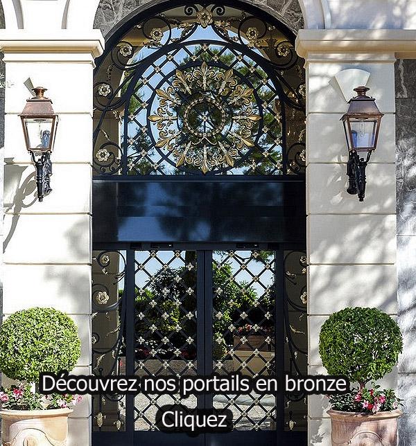 portails sur mesure en bronze