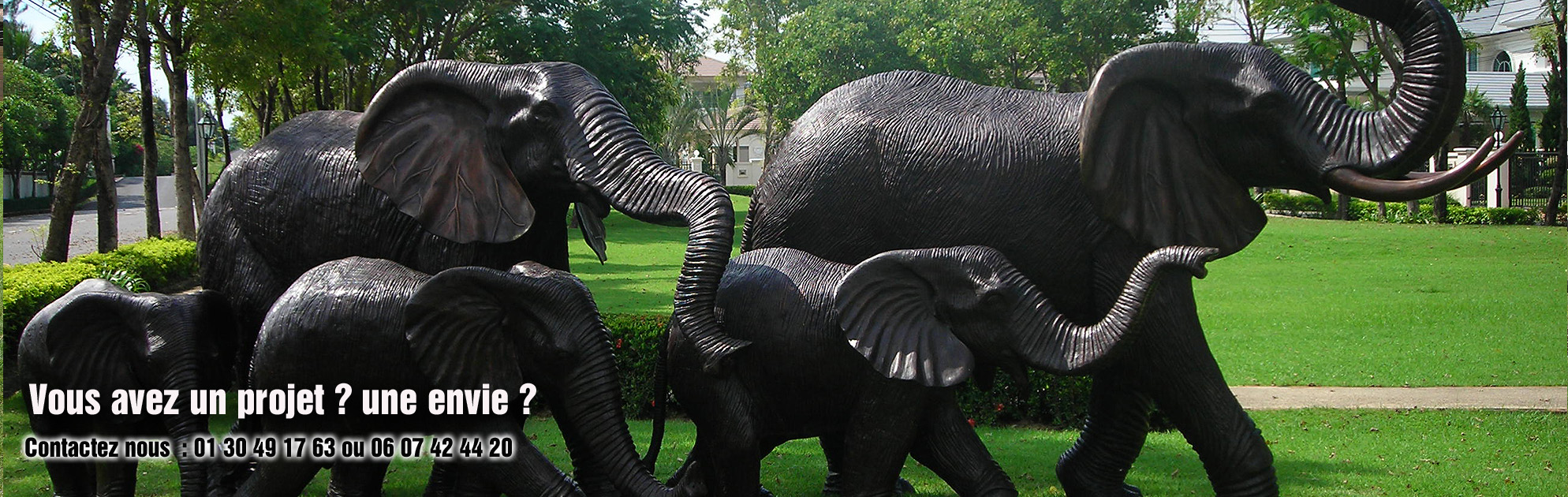 sculpture bronze elephant