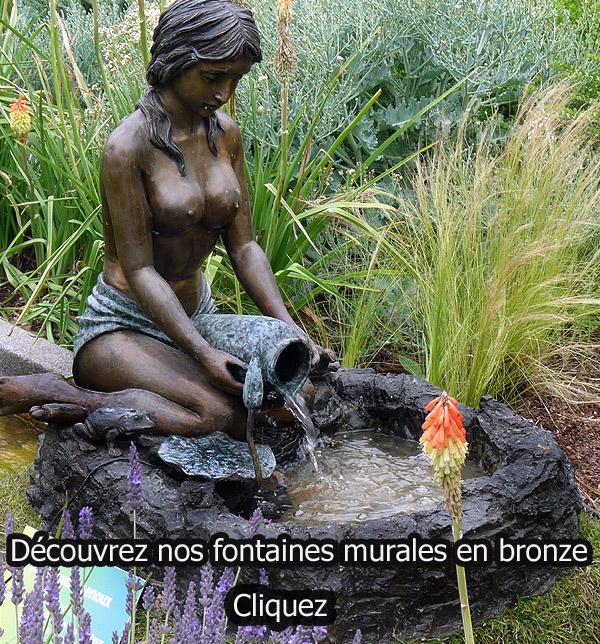 sculpture en bronze fontaine de bassin extérieur