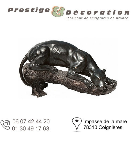 sculpture bronze guepard