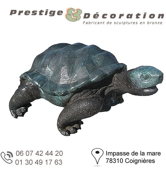 sculpture bronze tortue
