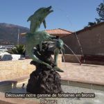 sculpture fontaine jardin dauphin bronze