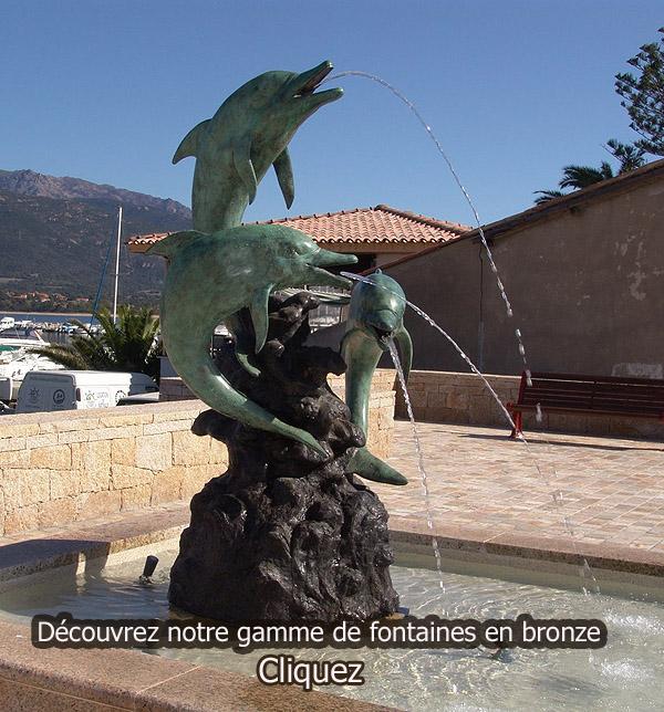 sculpture de fontaines en bronze pour bassin exterieur