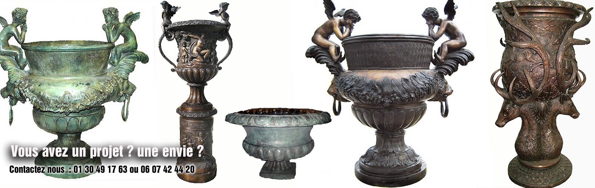 sculptures bronze vasque jardin