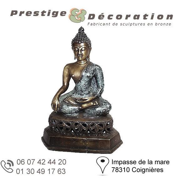 sculptures statuettes bronze bouddha