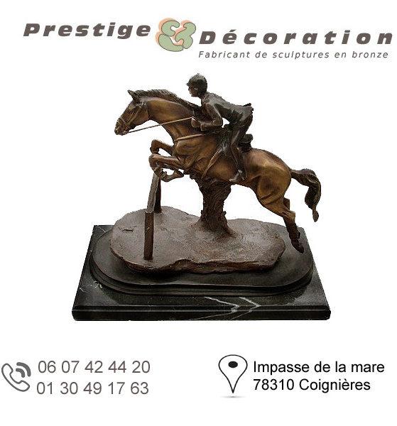 sculptures statuettes bronze cavalier