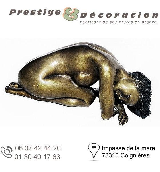 sculptures statuettes bronze femme