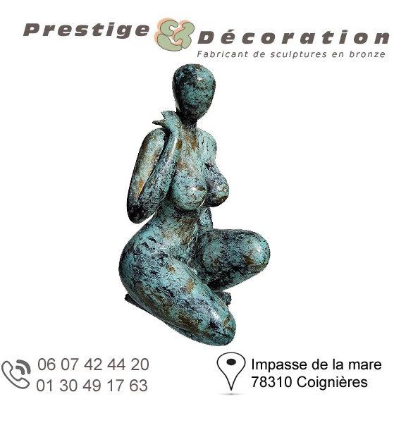 sculptures statuettes bronze femme nue