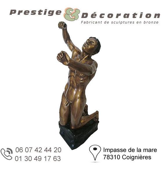 sculptures statuettes bronze homme